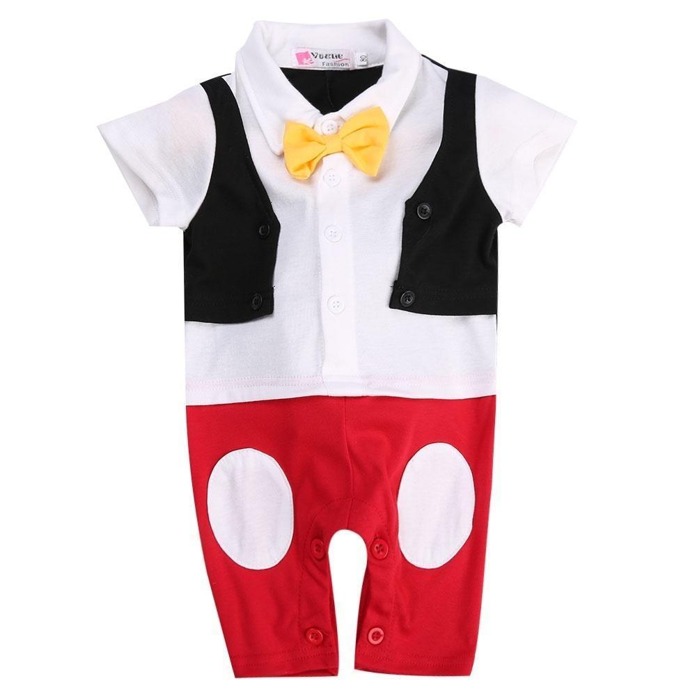 Набор Baby Boy 3D галстуки джентльмен мило Комбинезоны комбинезон Onesie наряд галстуки