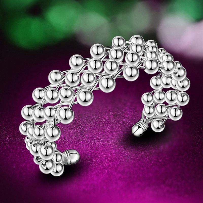 Новые женщины мода серебряные позолоченные жемчужина браслет