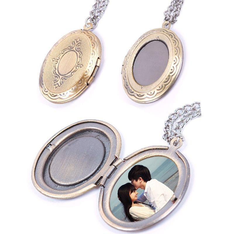 Новые горячие удивительные фото рамка сердце кулон медальон ожерелье ювелирные изделия