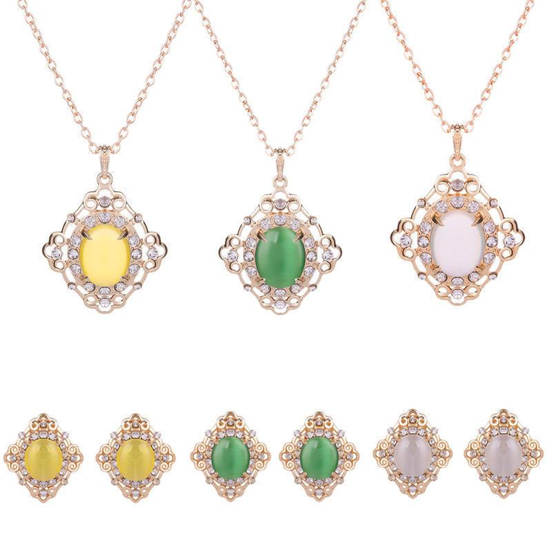 Простой моды свадебный комплект ювелирных изделий ожерелье + серьги ювелирных изделий