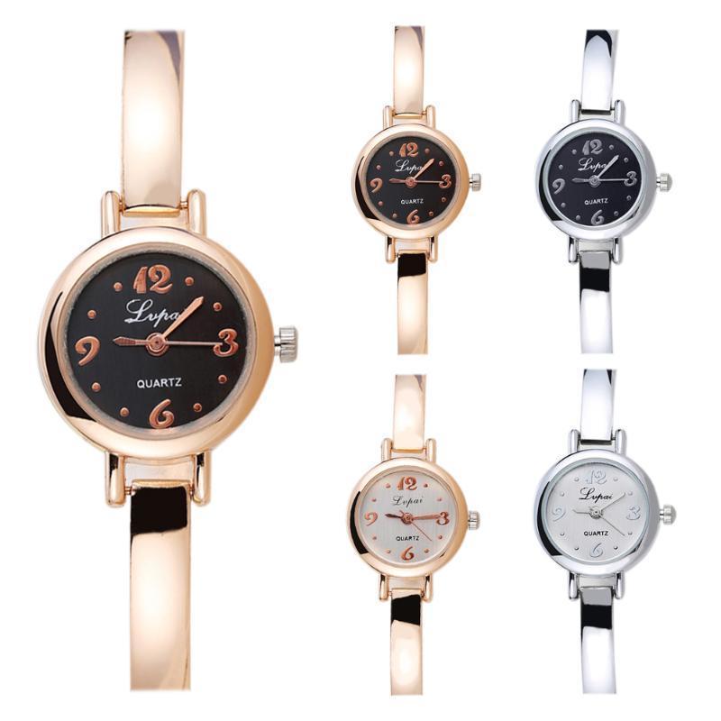 Lvpai Часы наручные часы платье подарок золотые часы (черный + золото)