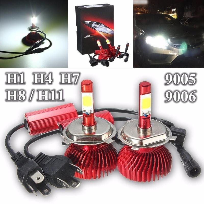 60W 6000LM LED H1/H4(Hi/Lo Beam)/H7/H8 (Н11) / 9005/9006 Auto привело фар преобразования комплект... oslamp h4 h7 h11 h1 h13 h3 9004 9005 9006 9007 9012 cob led car headlight bulb hi lo beam 72w 8000lm 6500k auto headlamp 12v 24v