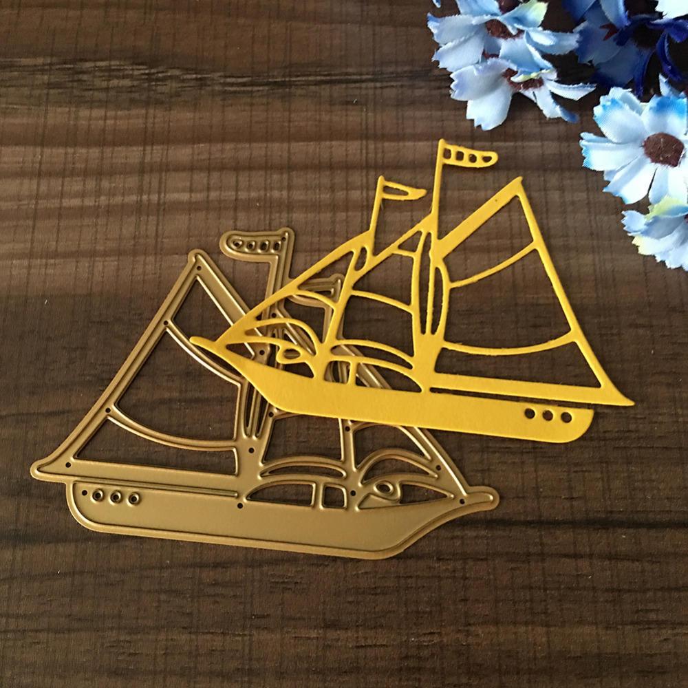 Металлические резки умирает трафареты парусная лодка парусная лодка ручной работы лодка