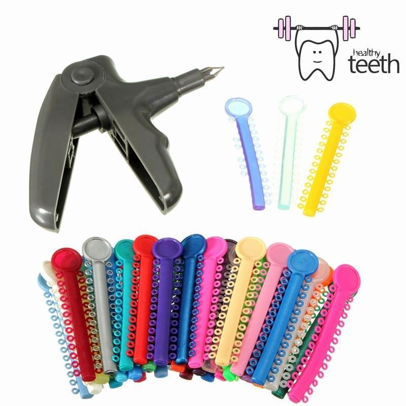 Практические Стоматологическая ортодонтические вязь пистолет распылитель + 1014pcs вязью галстуки... галстуки