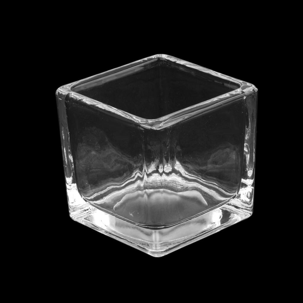 MagiDeal площади стекла Свеча держатель Tealight Свеча