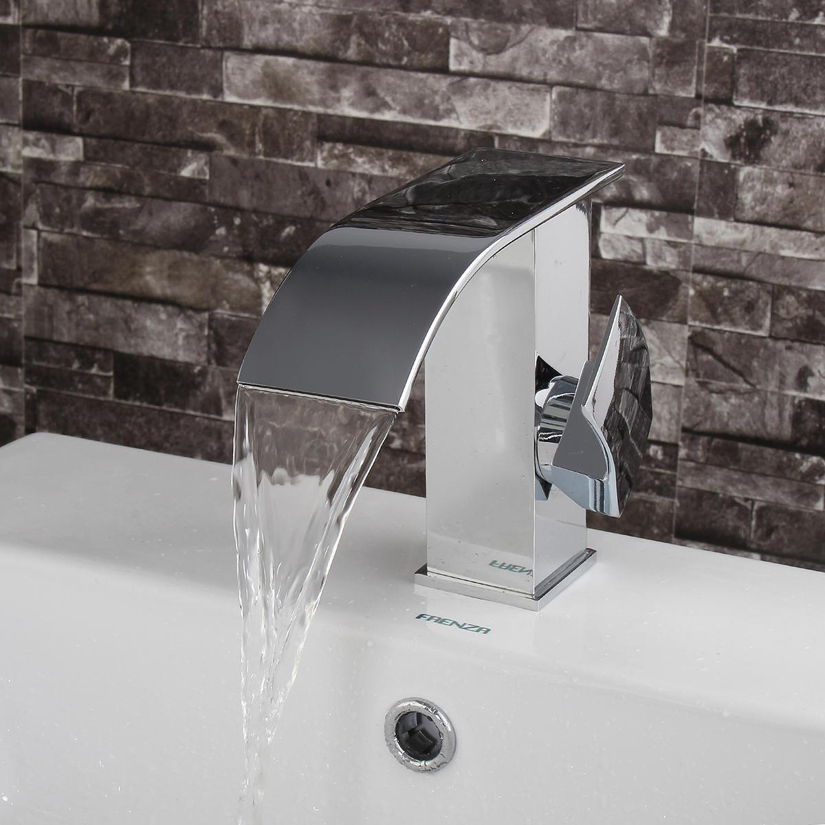 Гибкие площади Латунь хром WaterfallKitchen Однорычажный смеситель смеситель раковина смеситель fresso sh377