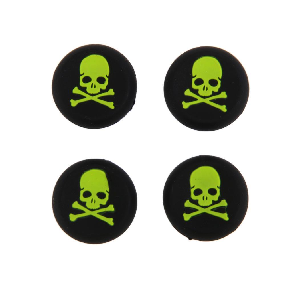 4 x зеленый череп джойстик джойстик колпачки для Sony PlayStation PS4 контроллер ivy queen for sony playstation 4 ps4 ps3 controller alu aluminium bullet aktions buttons tasten gun triangle circle square x