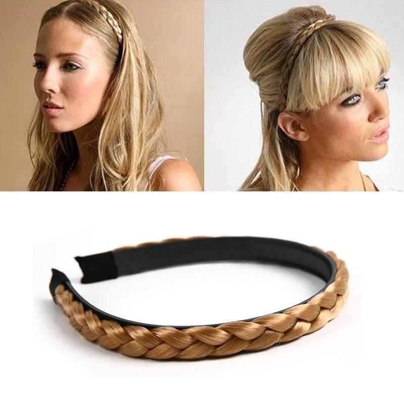 Оголовьем для женщин свадебные волос полос лентой плетеные плетеные Аксессуары для волос плетеные заборы для дачи купить