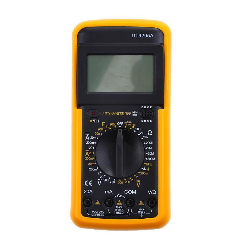 DT-9205A цифровой LCD мультиметр вольт ампер резисторы ом конденсаторы Фарад мультиметр ресанта dt 9205a