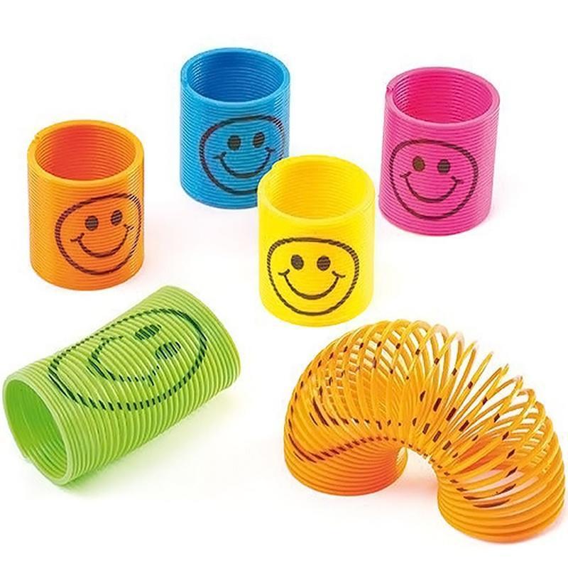 Скидка! продажа! 12шт мини радуги весны смайлик Спрингс игрушек оптом (цвет: многоцветный) скидка