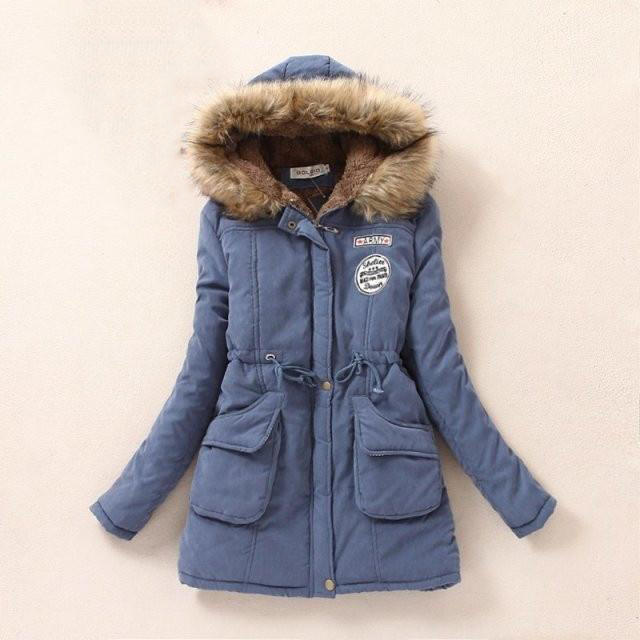 Женщины мода зима теплая шерсть шляпа Хлопок Одежда женская набивочного