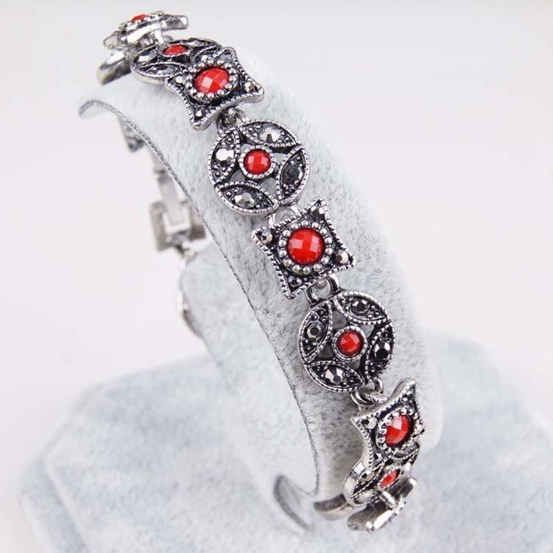 Богемия ручной тайский серебряные Позолоченные Браслеты Браслеты Vintage бижутерия pulseras