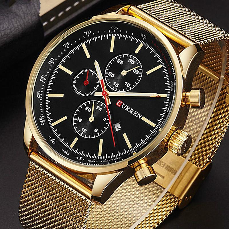 High-End часы Часы золотые часы завода солдат кварцевые часы