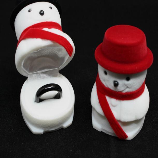 Ювелирные изделия Box байковые ювелирные изделия Box Рождественский снеговик кольцо Box
