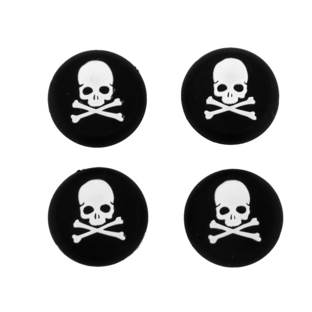 4 x белый череп джойстик джойстик колпачки для Sony PlayStation PS4 контроллер ivy queen for sony playstation 4 ps4 ps3 controller alu aluminium bullet aktions buttons tasten gun triangle circle square x