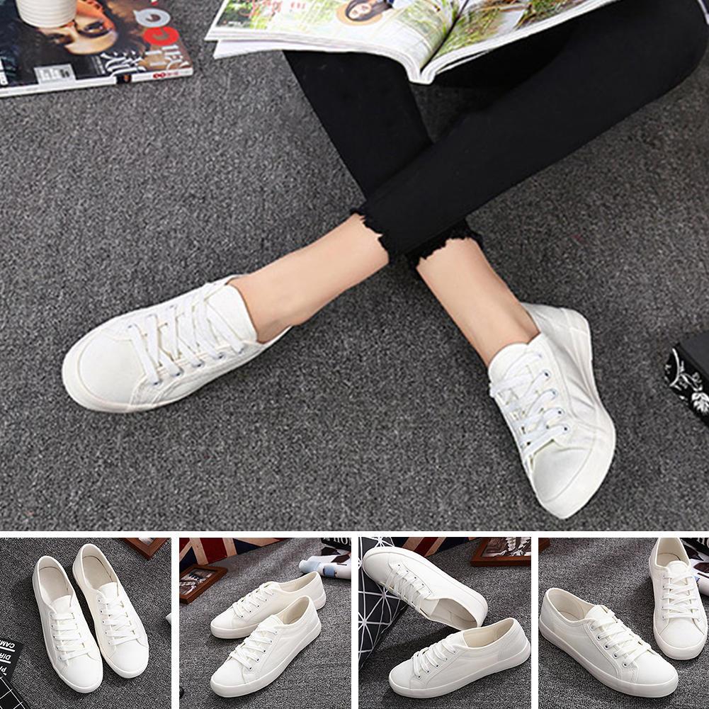 Женщины холст зашнуровать дышащей обуви кроссовки туфли Joom