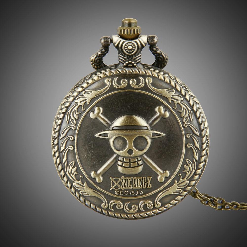 Большой бронзовый ретро кружева помощи один кусок карманные часы анимации череп карманные часы