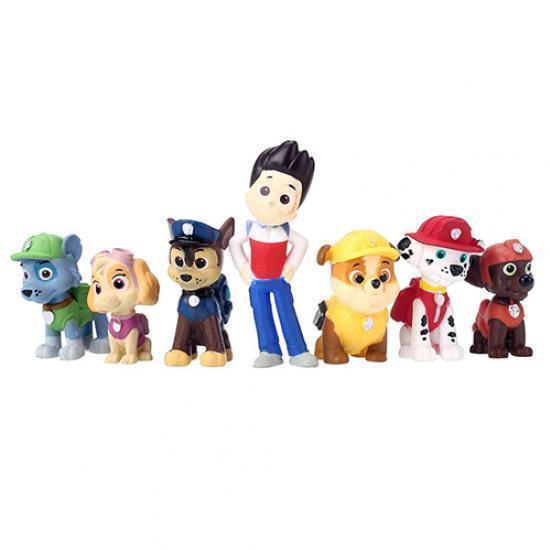 12pcs патрульные игрушки пластиковые мини щенка собака действий цифры игрушки для детей подарки д... игрушки для детей