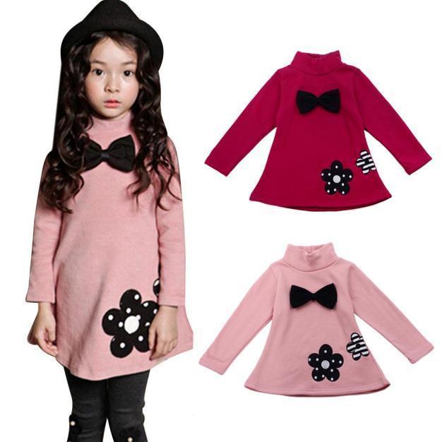 Прекрасный моды девочек детские цветы длинные платья платья для девочек