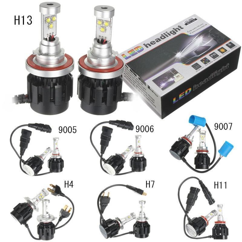 60W/80W H4/H7/H11/H13/9005/9006/9007 кри Светодиодные лампы фар Хай/Лоу белые лампы h4 h7 h11 h13 9005 9006 9004 9007 led car headlight bulb 9007 hi lo beam led headlamp 80w 8000lm 6000k auto led headlamp 12v 24v