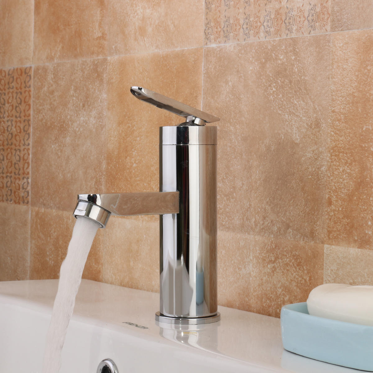 Матовый хром водопад ванной бассейна кран ручкой смеситель раковина масло втирают бронзовый ванной бассейна кран vesse раковина смеситель одной ручкой новый tree697