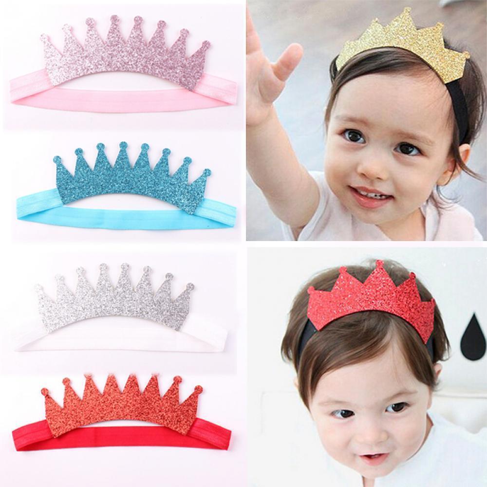 Ковылять Корона детей Baby волос волосы группы Аксессуары для волос оголовье аксессуары для детей