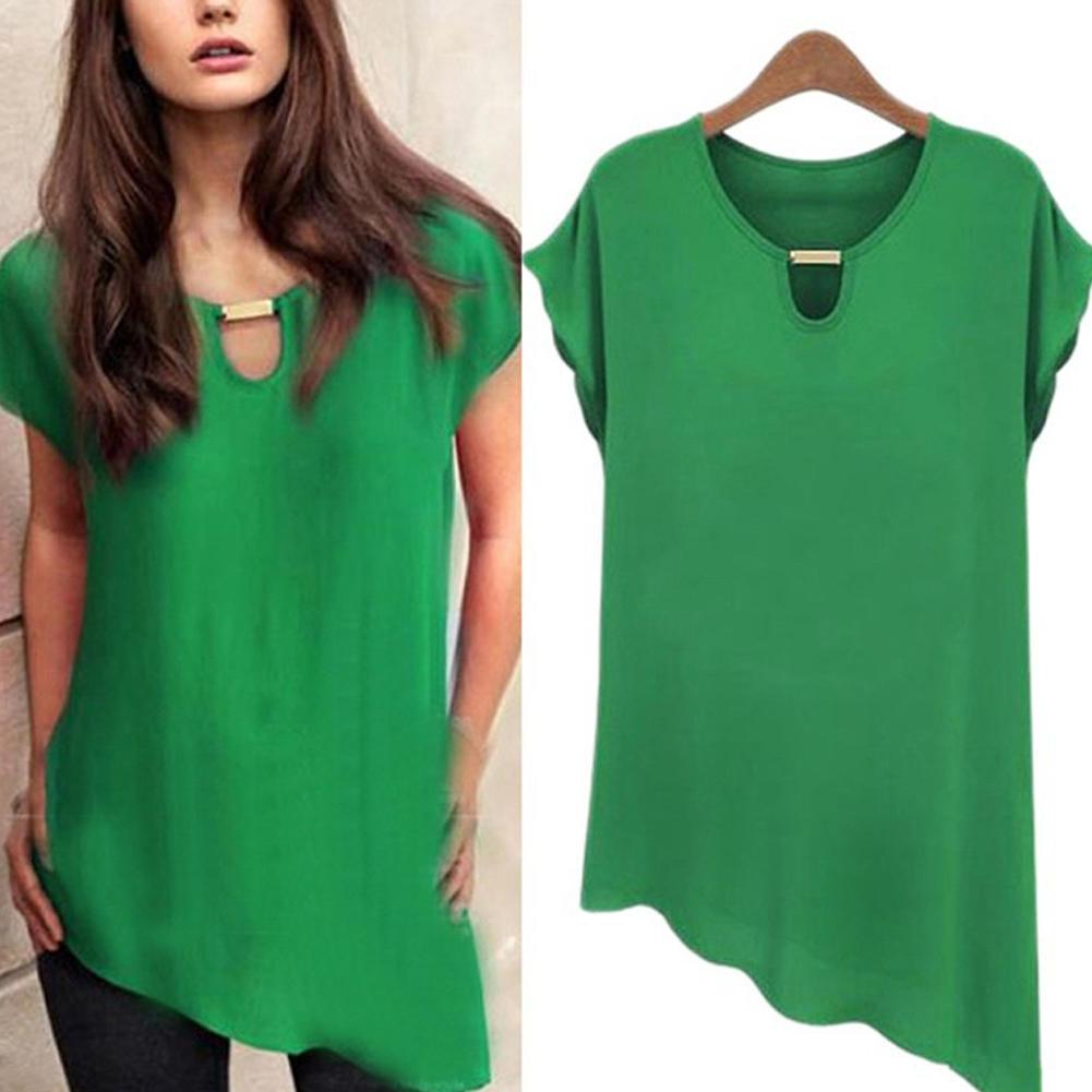 women chiffon butterfly sleeve summer casual blouse plus siz