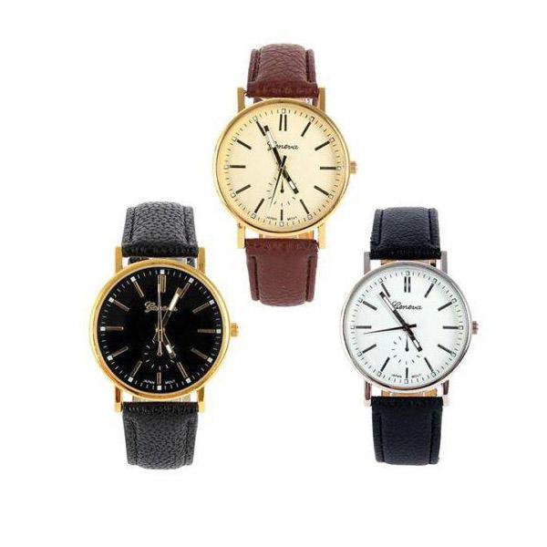 Новый мужской женщин кварц золото Циферблат спорта наручные часы ремешок браслет моды