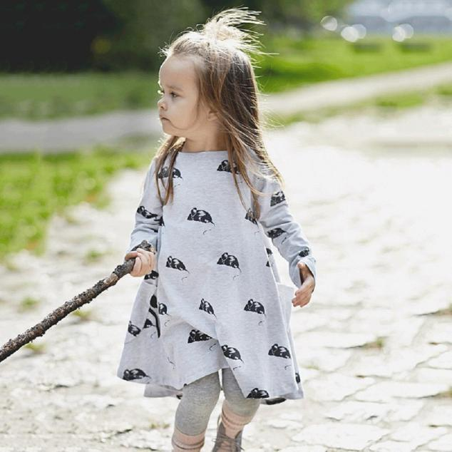 Маленьких девочек платья длинный рукав принцессы партии платья для девочек