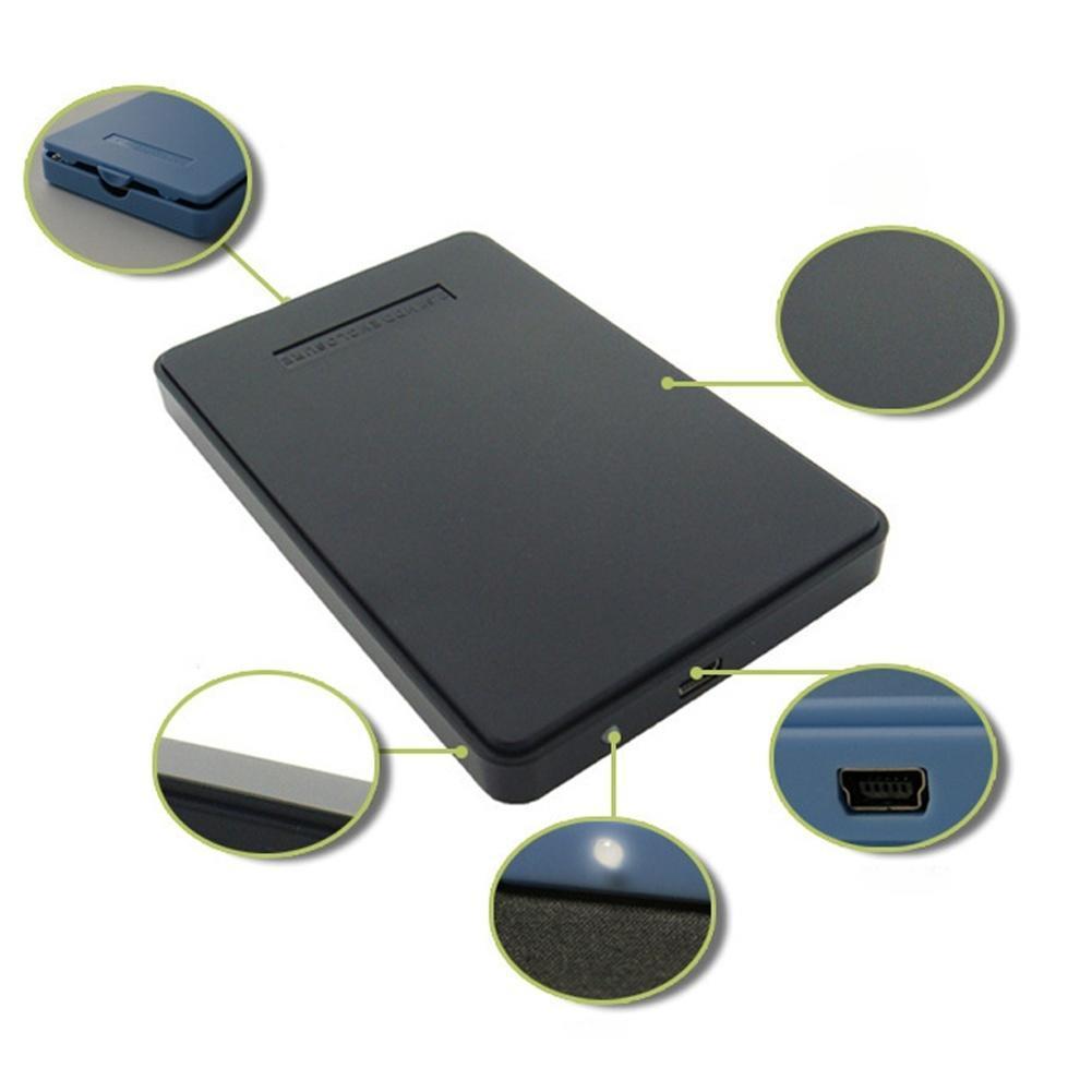 USB 2.0 SATA 2,5-дюймовый HDD жесткий диск внешний корпус безвинтовой случае коробка внешний жесткий диск lacie stet2000400 porsche design 2tb серебристый stet2000400