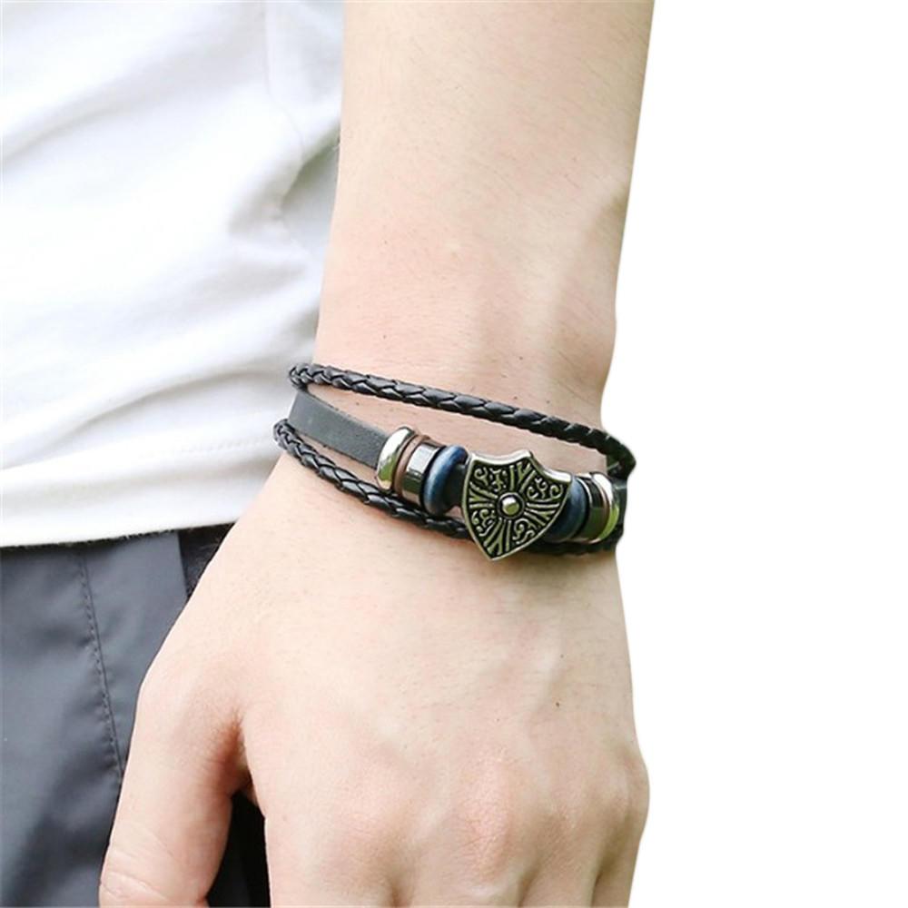 Мужской кожаный браслет & браслеты ювелирные изделия
