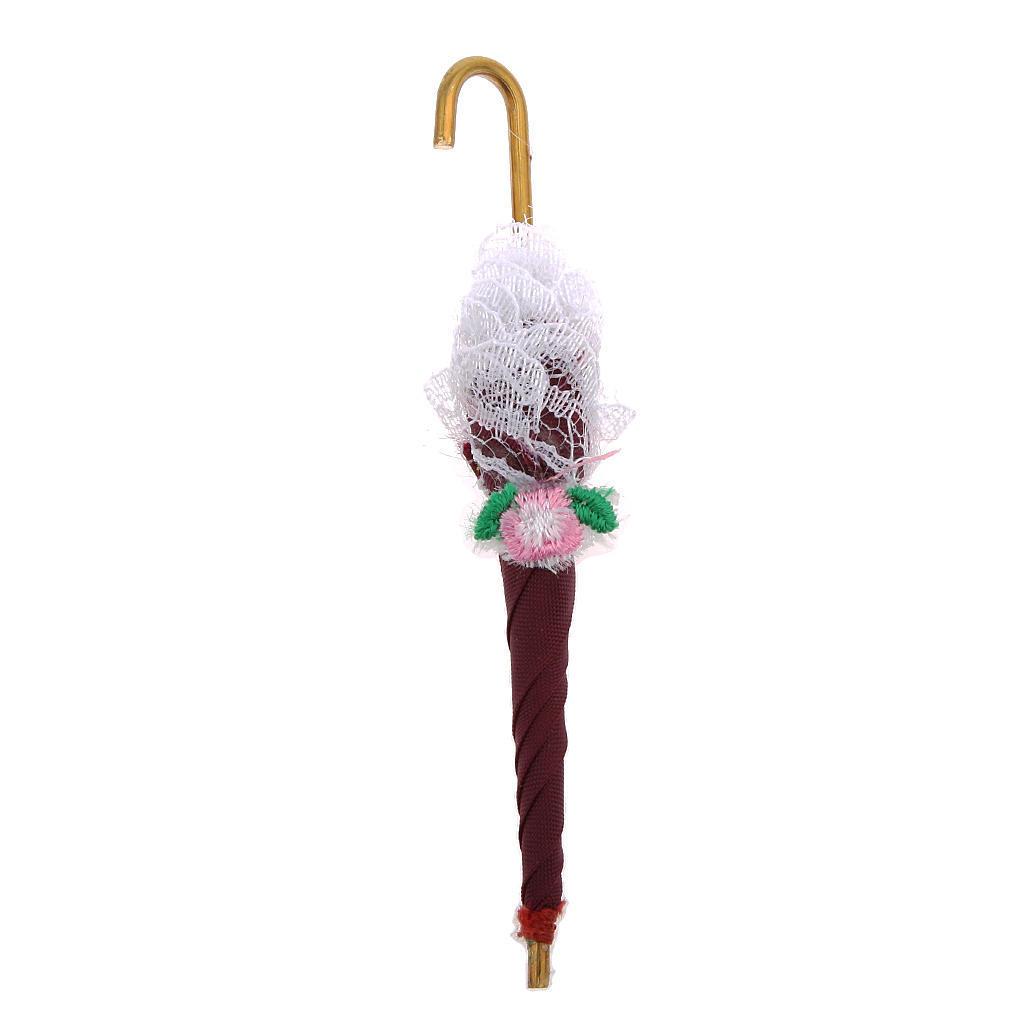 Масштаб 1:12 зонтик Зонты куклы дом миниатюра Аксессуары зонты