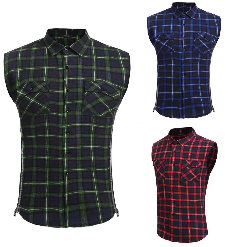 Мужские рубашки случайным рукавов плед кнопку двойной карманы рубашки рубашки