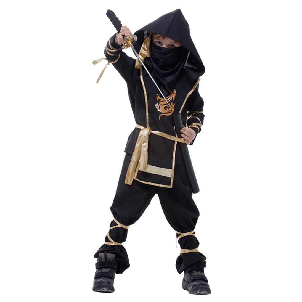 Детский костюм ниндзя боевых искусств костюмы одежда ночного убийцы костюмы wonderkids костюм
