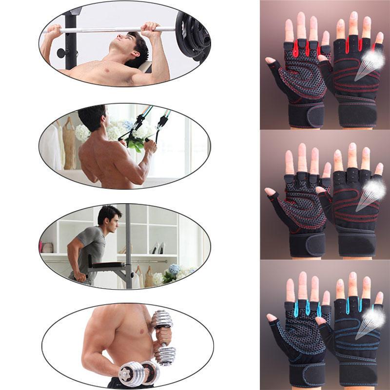 Тренажерный зал Перчатки Половина Finger дышащей тяжёлая фитнес перчатки Гантель мужчин женщин сп... мужские перчатки xcsource finger 18 ay035 sz