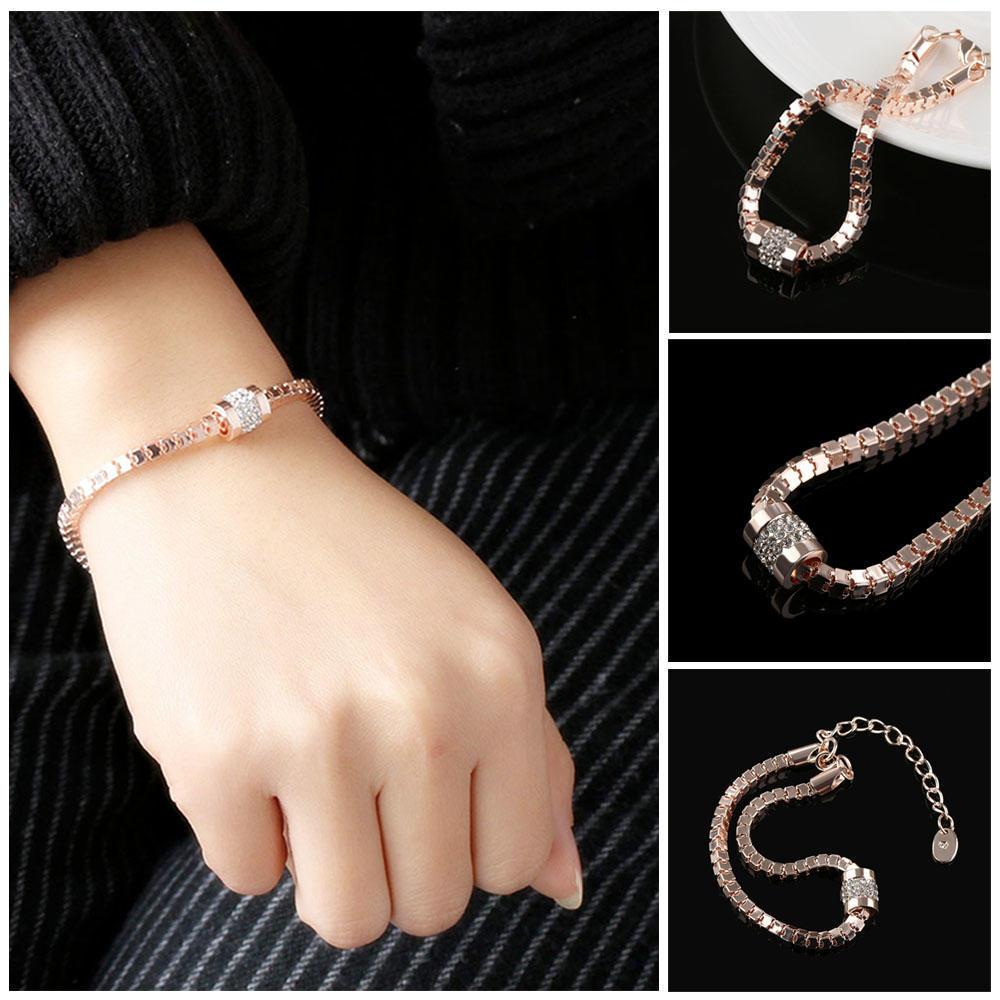 Ювелирные изделия цепи Роуз Позолоченные Браслеты металлический браслет