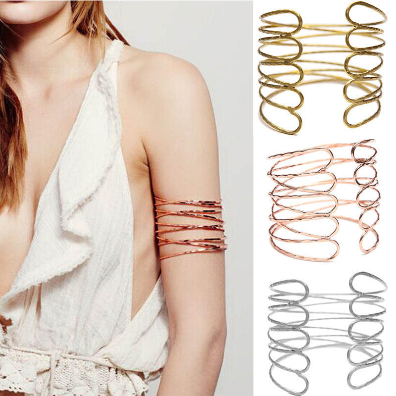 Плеча простой Золотой водоворот манжеты браслет моды браслет браслет