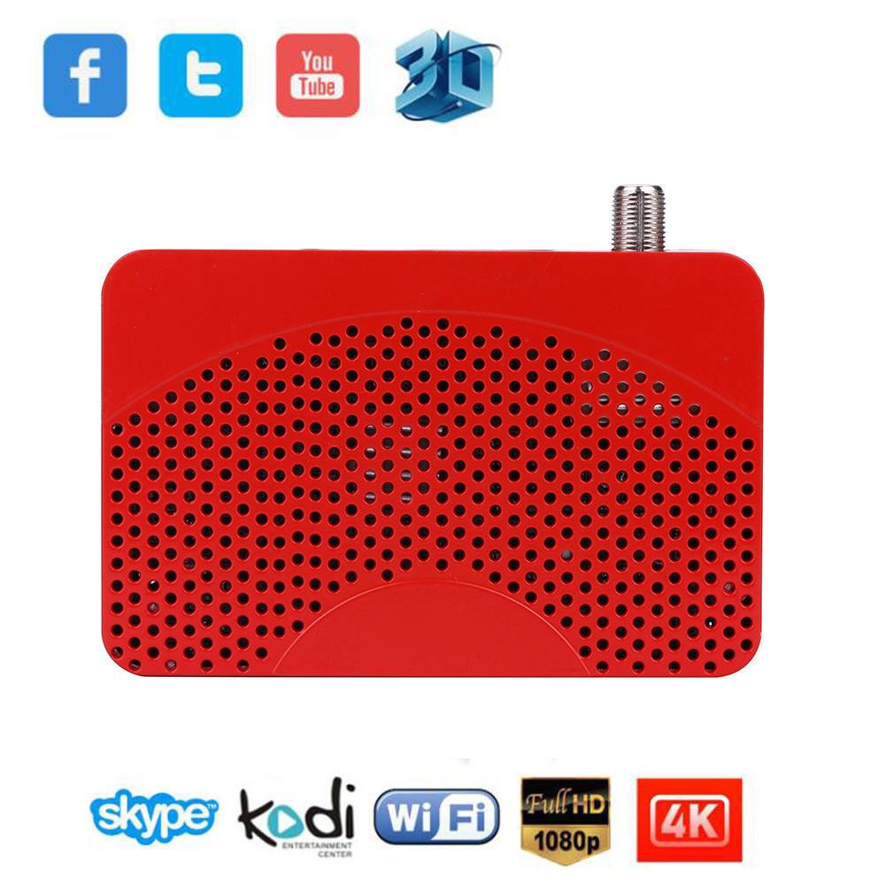 Новый мини-размер 1080P цифровой DVB-S2 Спутниковое Wifi KeyTuner приемник TV BOX HDMI PVR 80 channels hdmi to dvb t modulator hdmi extender over coaxial