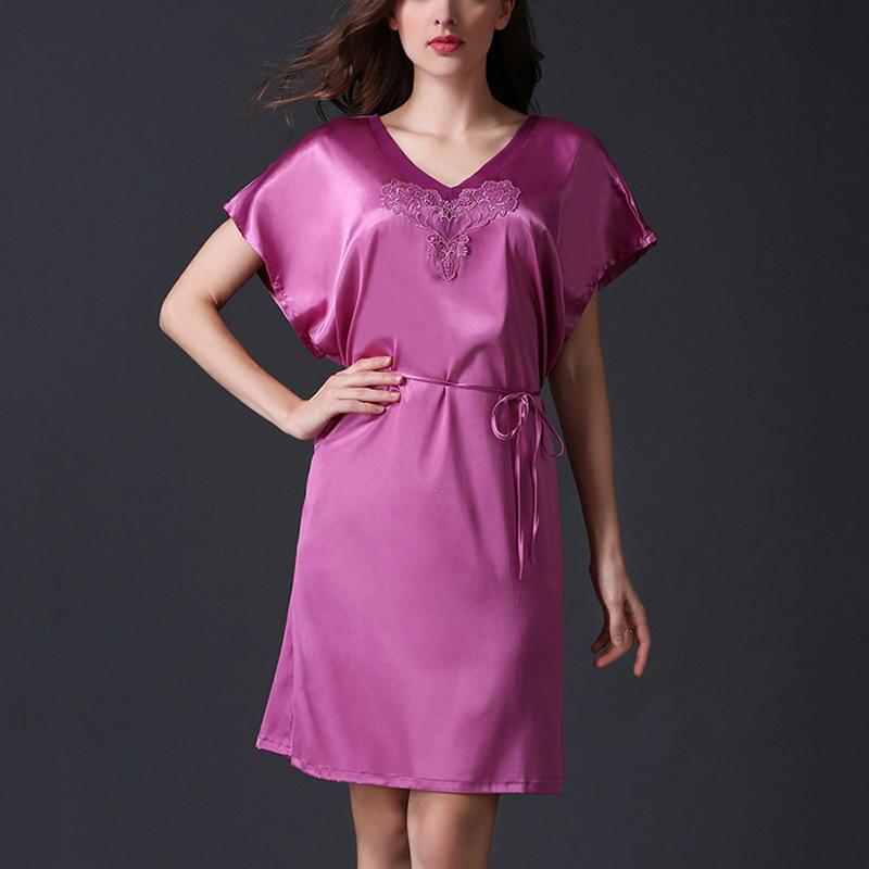 Женщины летнее платье шелковое сна платье пижамы alexandr rogov шелковое платье