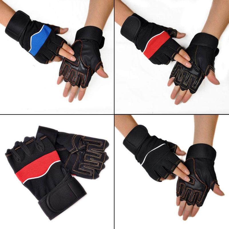 Новые спортивные перчатки мужчин Половина Finger Скалолазание перчатки велосипедов противоскользя... мужские перчатки xcsource finger 18 ay035 sz