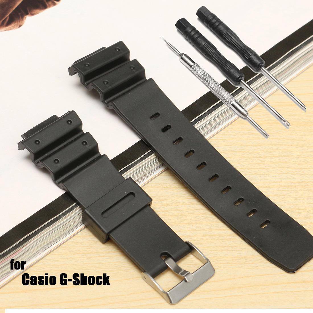 25 мм матовый силиконовые часы группа ремешок для CASIO G-Shock замены новый casio g shock g classic ga 110mb 1a