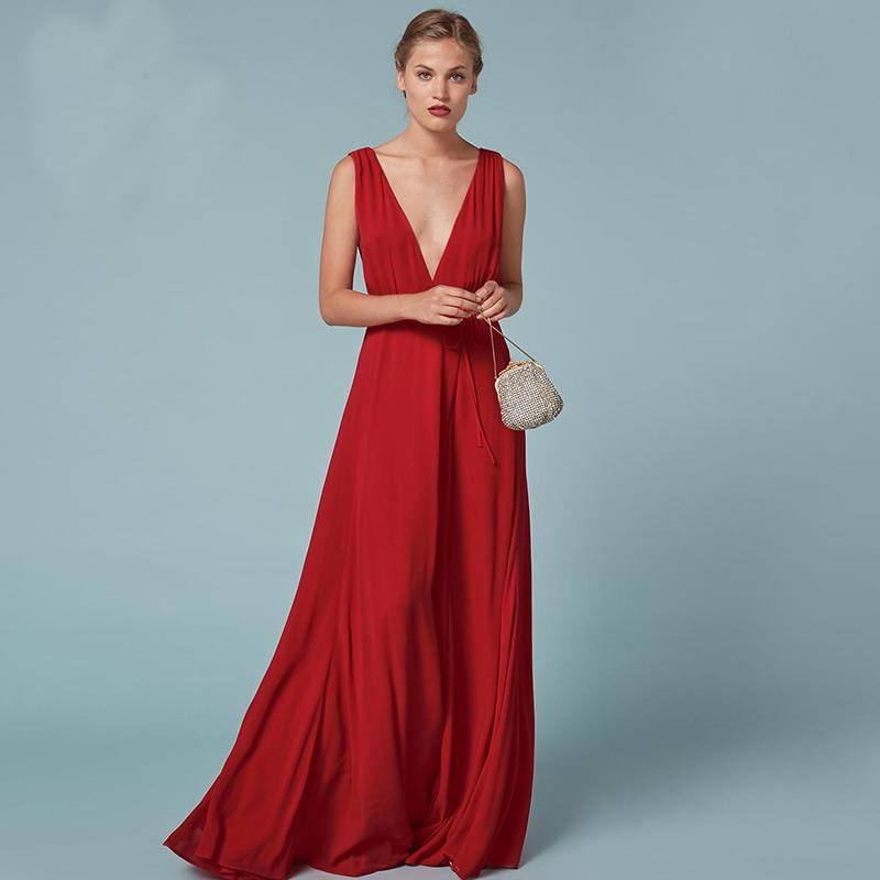 Женщины долго свадебное платье платье элегантное платье высокой талией платье платье