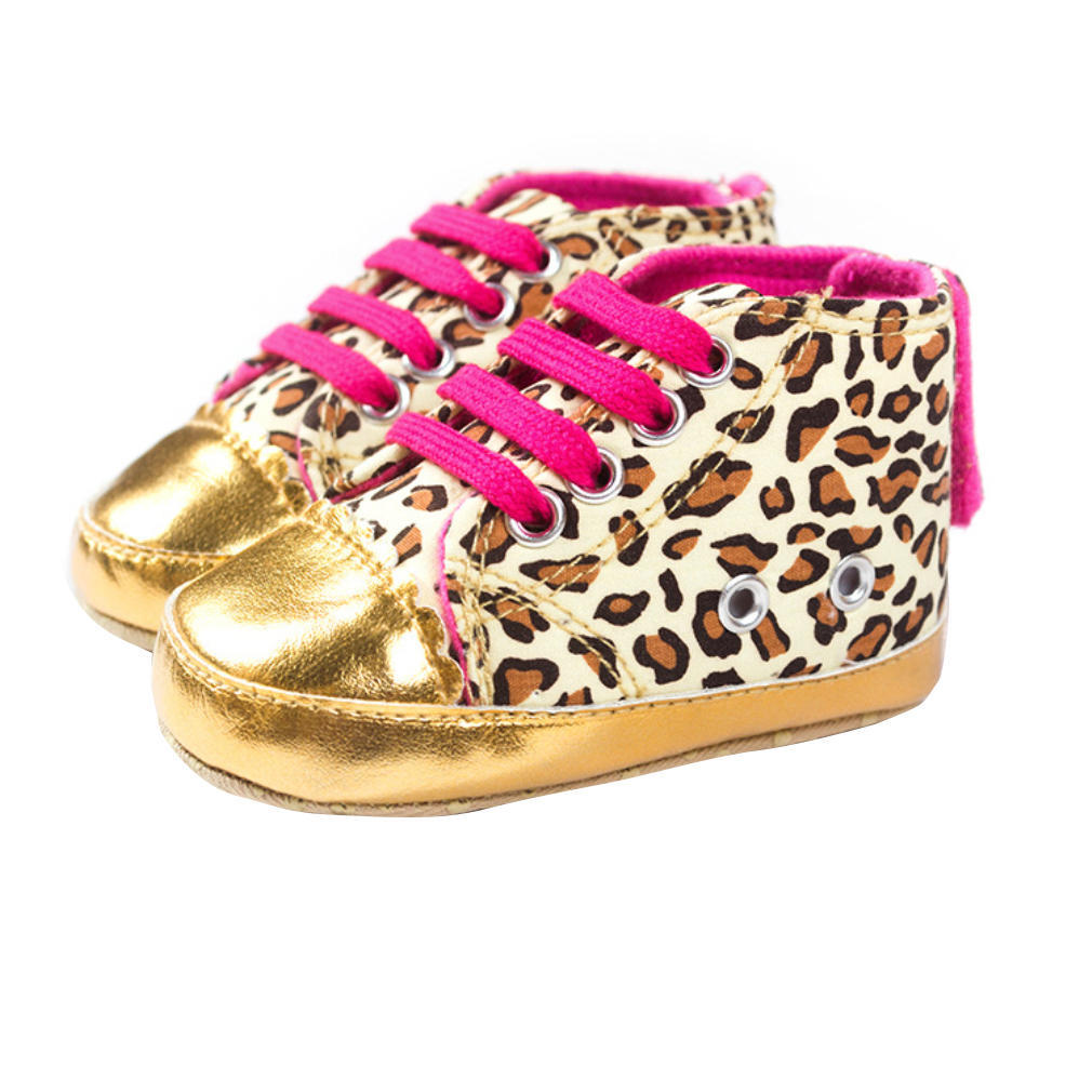 Fashion Leopard Baby Girls Toddler Lace Up Boots Slip on ...