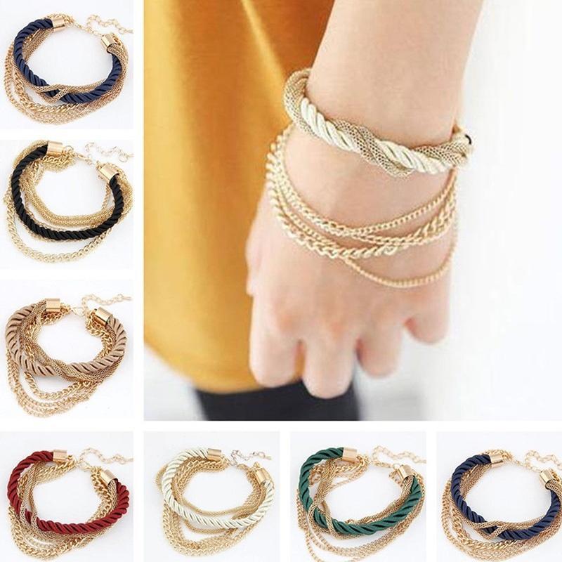 Новый женский стиль браслет золотой горный хрусталь браслет очарование манжеты ювелирные изделия