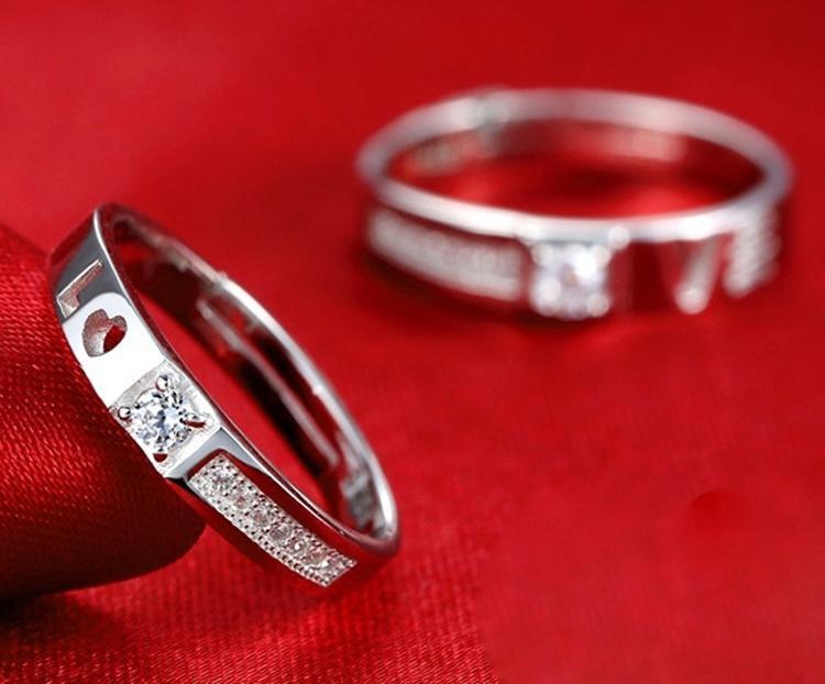 2015 лето, горячие продажи корейский стиль 925 серебряные кольца пара кольца для мужчин и женщин ...