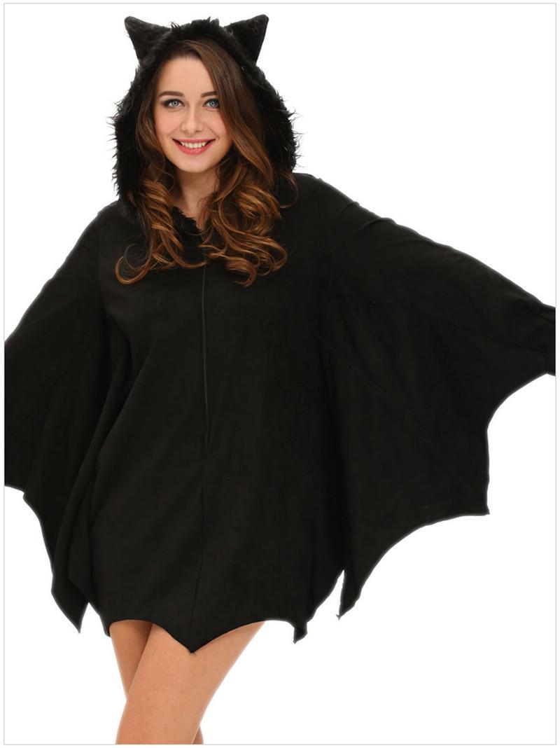 Партии Хэллоуин костюмы для женщин наряды все в черный Bat взрослый костюм маскарадный костюм кар... костюмы wonderkids костюм