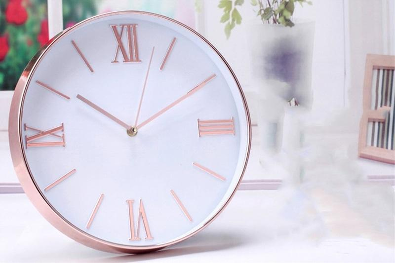 modern quiet quartz round wall clock large decorative for li