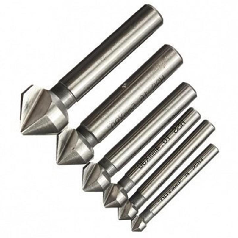 3 флейты фасок резец мельница 6 шт 90 градусов набор фрезерная резка набор инструментов набор инструментов квалитет нир 90