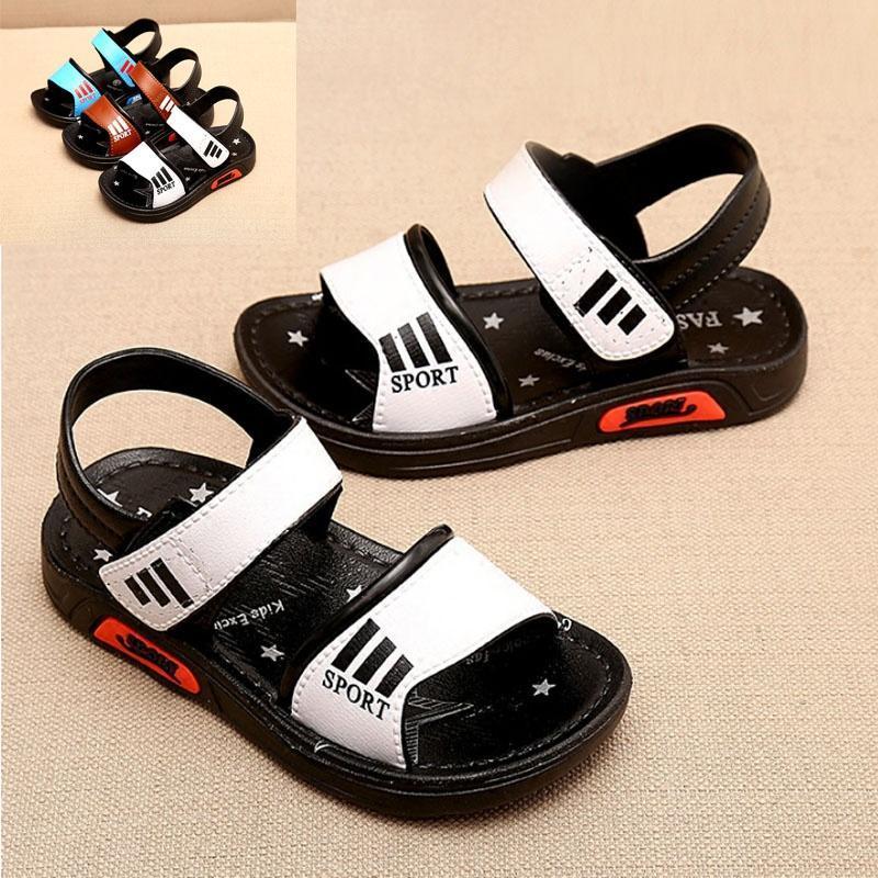 Новый стиль летних детей сандалии мальчиков скольжению обувь мальчиков дети Обувь пляжная обувь обувь для детей