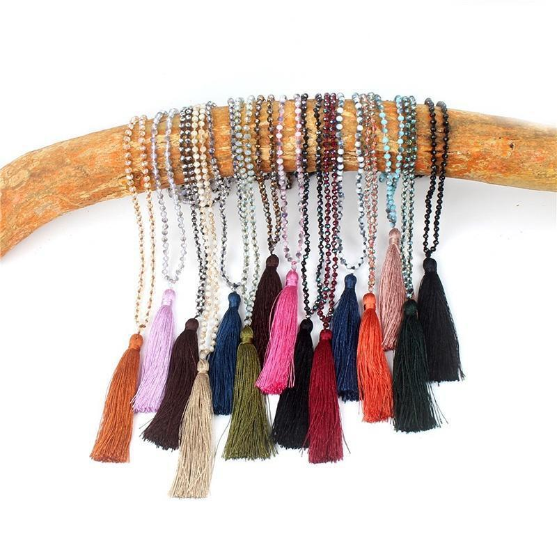 Модный богемный бисером ручной кисточкой ожерелья и подвески вышивка бисером молящийся христос